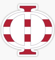 stripes phi Sticker
