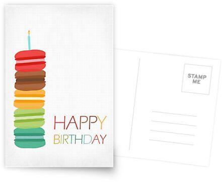 «Macaron Stack Cake - Tarjeta de cumpleaños» de RumourHasIt