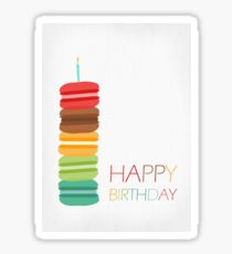 Macaron Stack Cake - Birthday Card Sticker
