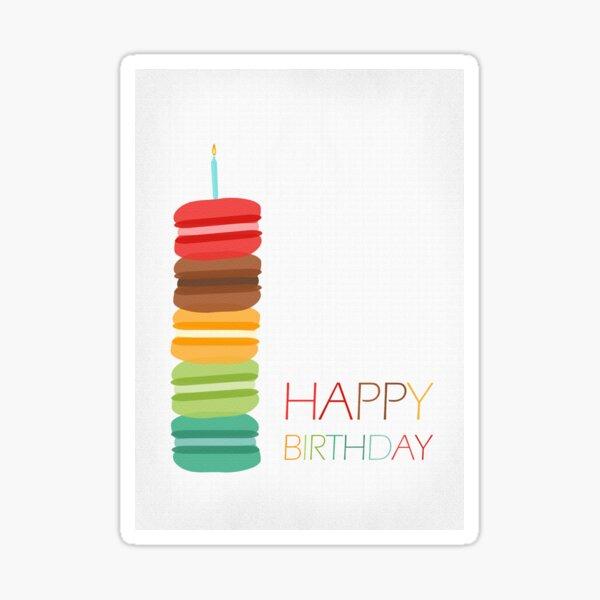"""con un mensaje de """"Feliz cumpleaños"""" a un lado, colocado sobre un fondo blanco nítido. ¡Una hermosa tarjeta de cumpleaños que puedes regalar a cualquiera en su cumpleaños! Pegatina"""