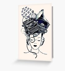 Steampunk Girl Greeting Card