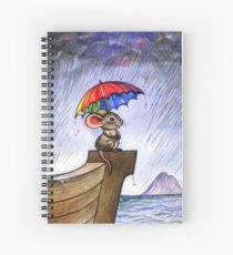 Little rainbow mouse Spiral Notebook