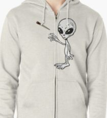 Ufo joint Zipped Hoodie