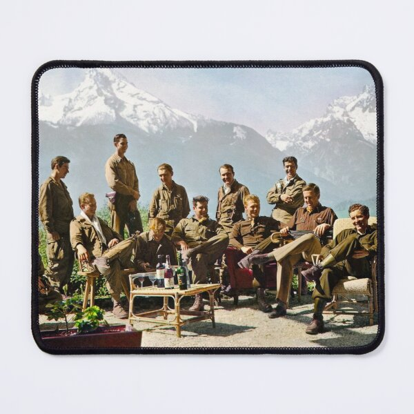 Dick Winters and his Easy Company lounging at Eagle's Nest, Hitler's former residence in the Bavarian Alps, 1945.  Mouse Pad