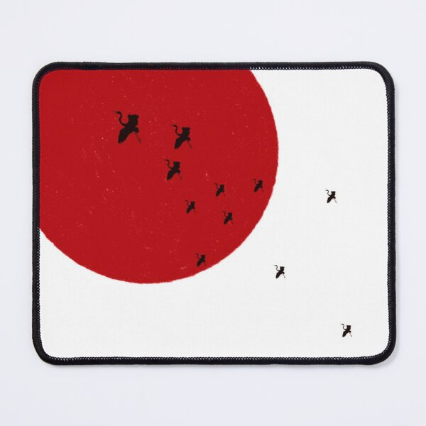 Sun and Birds | Japanese Inspired Design Mouse Pad