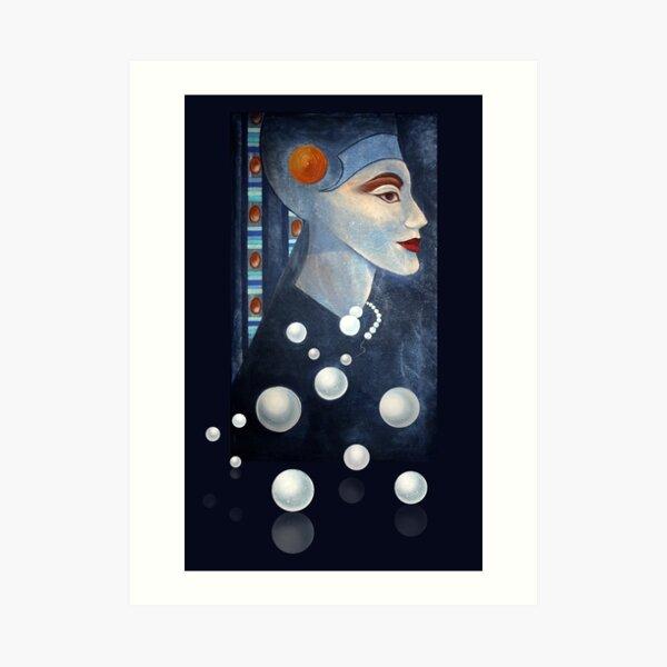 Blue Pearls  Kunstdruck