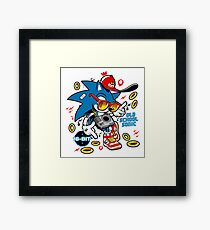 Sonic the Hedgehog - Old School Framed Print