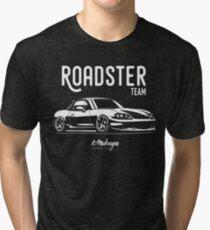 Roadster team. MX5 Miata (NB) Tri-blend T-Shirt
