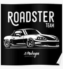 Roadster team. MX5 Miata (NB) Poster