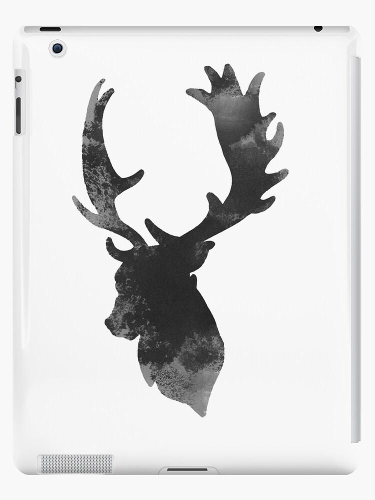 Deer Head Drawing Wall Decor Illustration Animal Poster Ipad Case Skin By Joanna Szmerdt