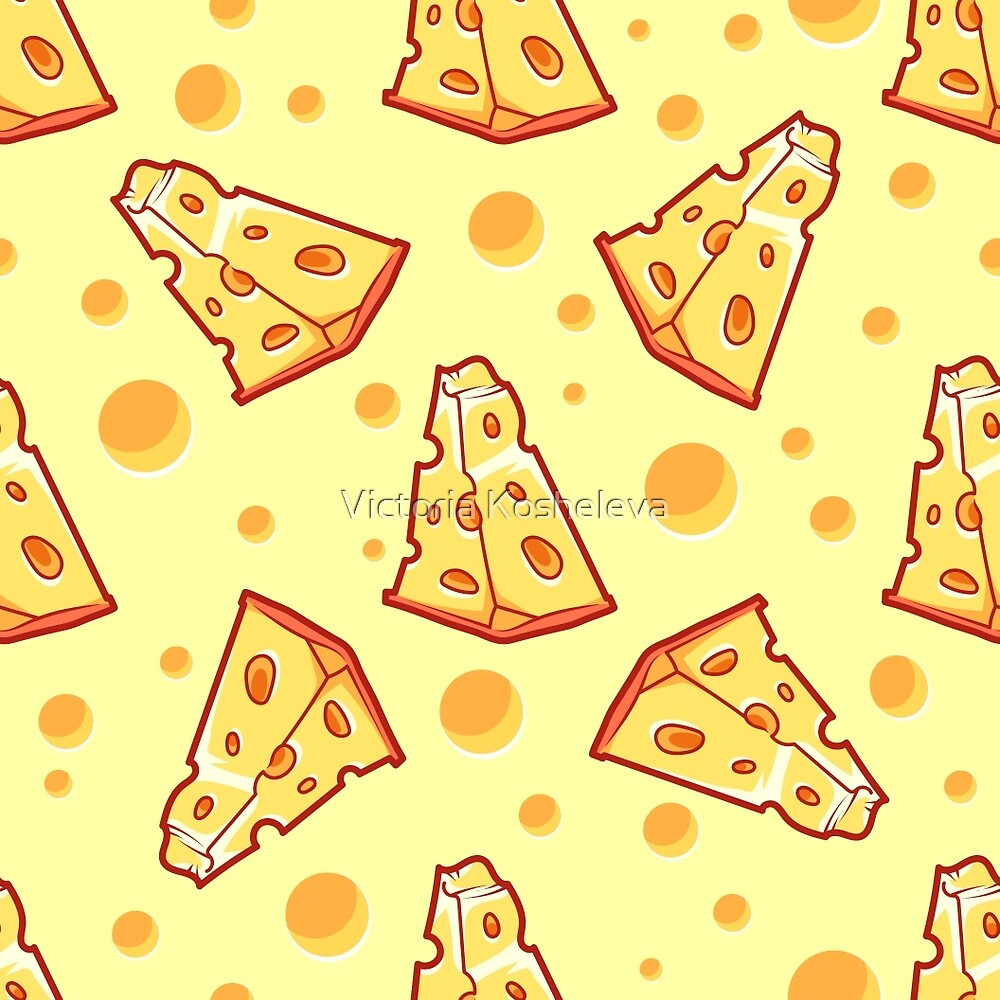 "Pattern with a slice of cheese on a light yellow background"" by ... for Background Pattern Light Orange  45jwn"