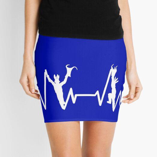 White heartbeat morris dancer design in solid white Mini Skirt