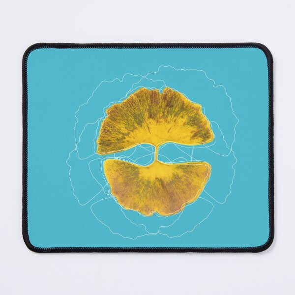 Double golden ginkgo  Mouse Pad