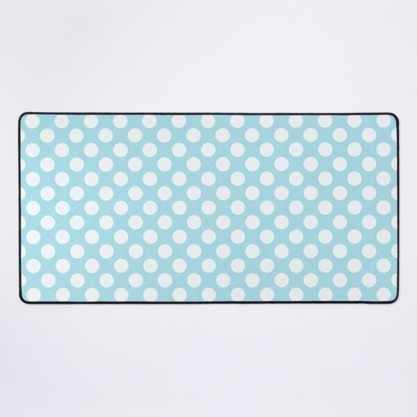 Blue Large Polka Dot Pattern Desk Mat
