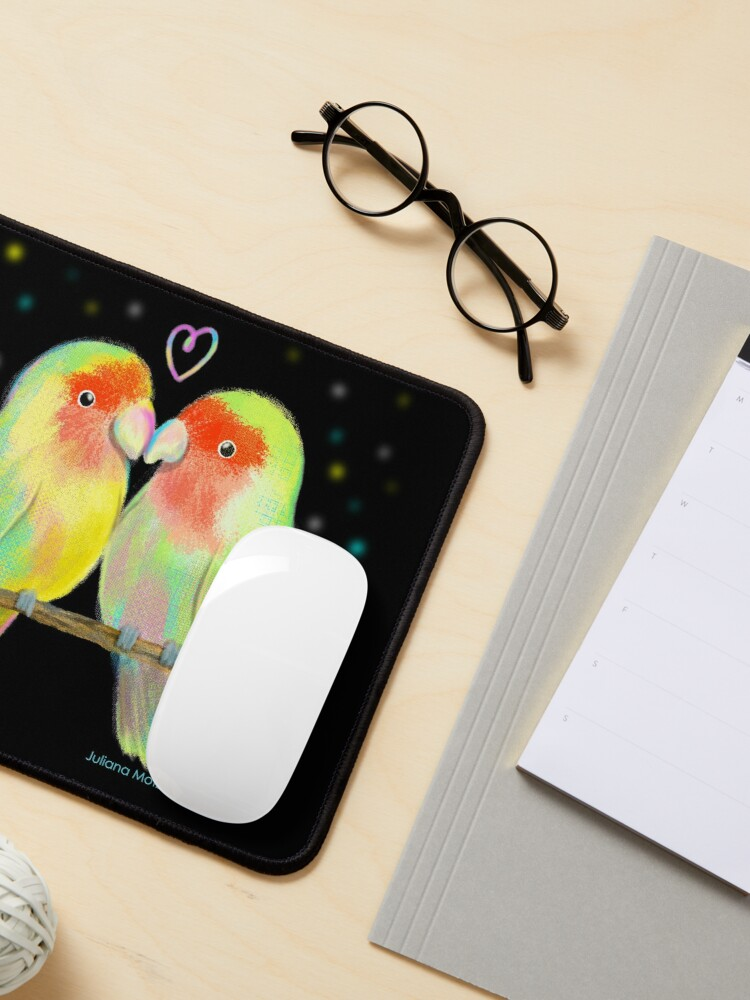 Alternate view of Love Birds Mouse Pad