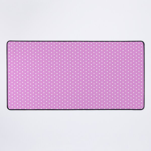 Purple Background With White Polka Dots Desk Mat
