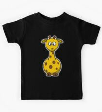 Giraffe, Cartoon, Africa, Wildlife, Trees, Fun, Funny Kids Tee