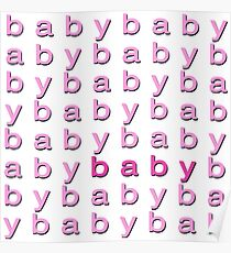 Baby Baby Pink Poster