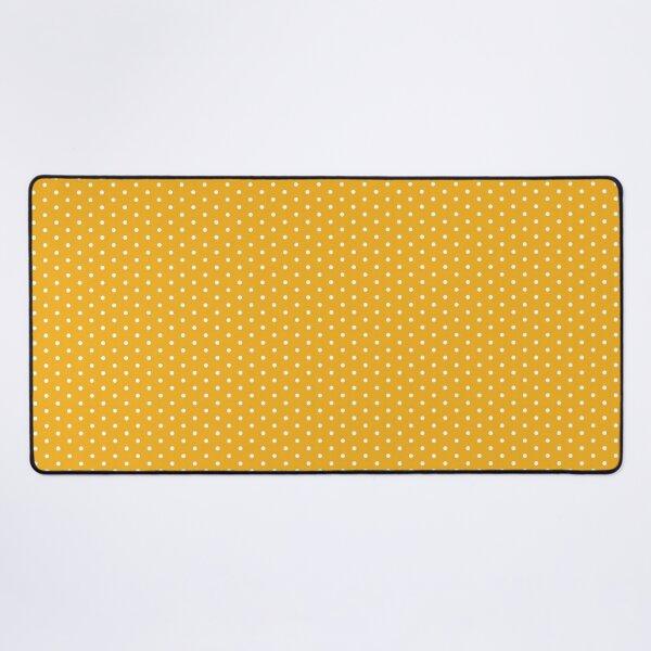 Orange Background With White Polka Dots Desk Mat