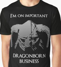 Skyrim | Dragonborn Business Graphic T-Shirt