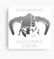 Skyrim | Dragonborn Business Canvas Print