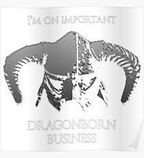 Skyrim | Dragonborn Business Poster