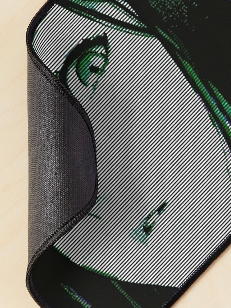 Alternate view of Vaporwave Cyberpunk Japanese Anime Style Girl Mouse Pad