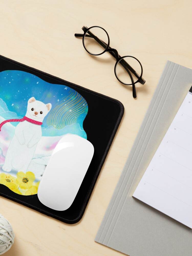 Alternate view of Arctic Wiesel Mouse Pad