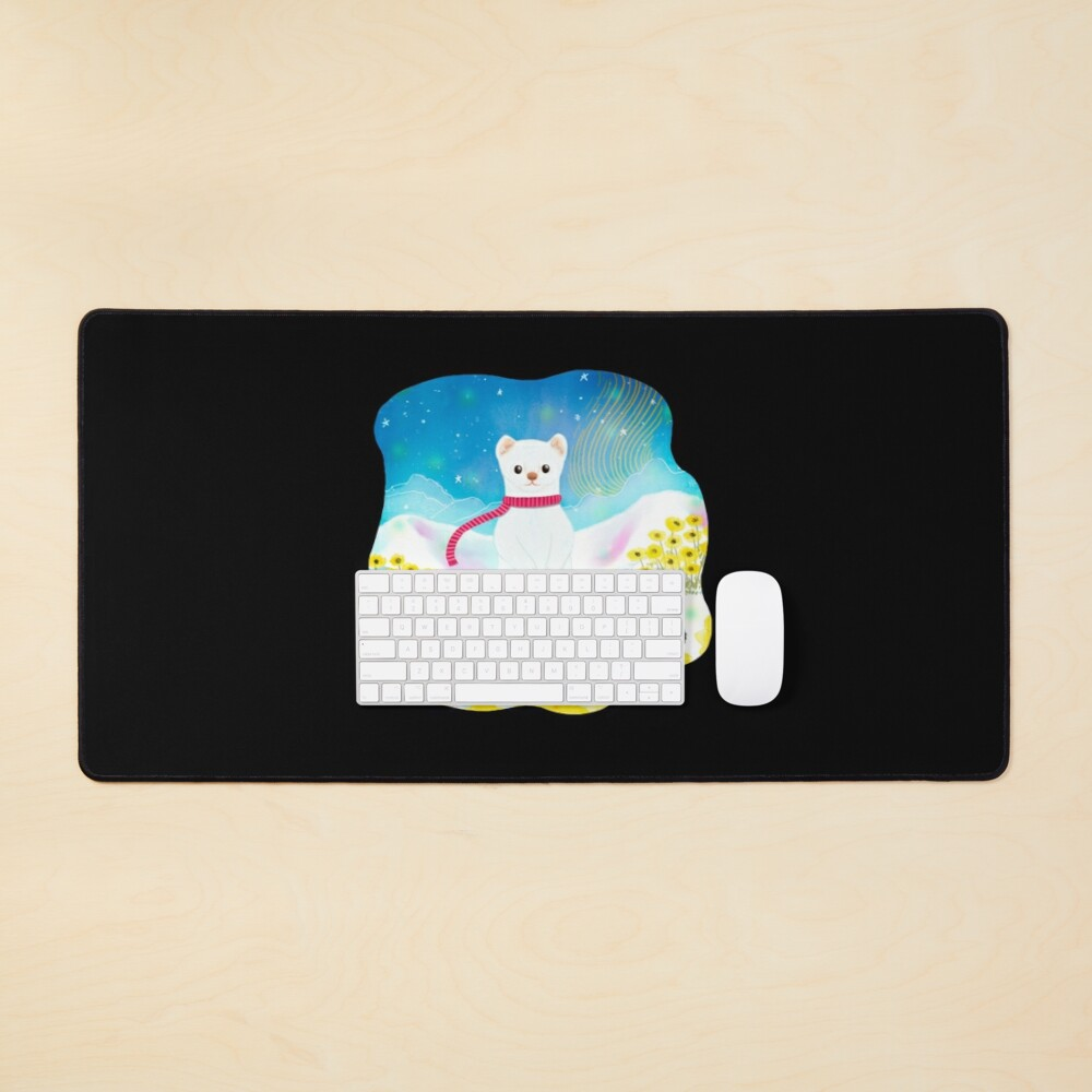 Arctic Wiesel Mouse Pad