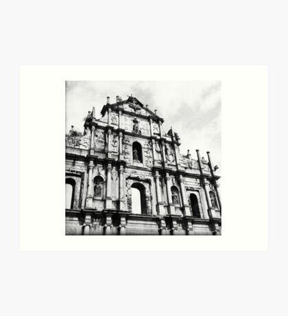 Church ruins Art Print