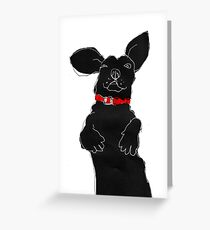 red collar Greeting Card