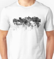 Denver skyline in black watercolor Unisex T-Shirt