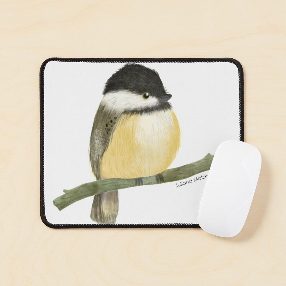 Black capped chickadee bird Mouse Pad
