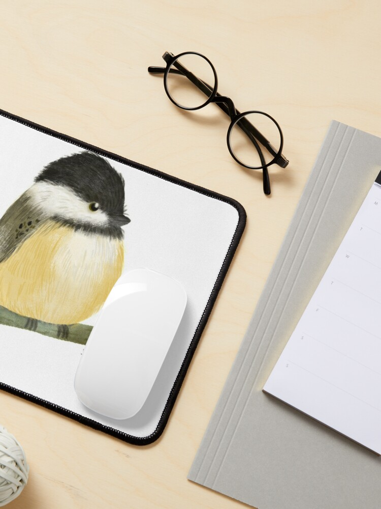 Alternate view of Black capped chickadee bird Mouse Pad