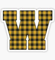 Wooster Plaid W Sticker