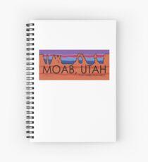 Moab, Utah! Play Hard, Play Nice. Spiral Notebook
