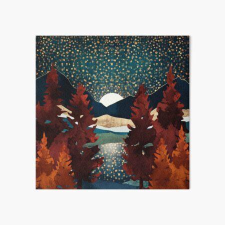 Star Sky Reflection Art Board Print