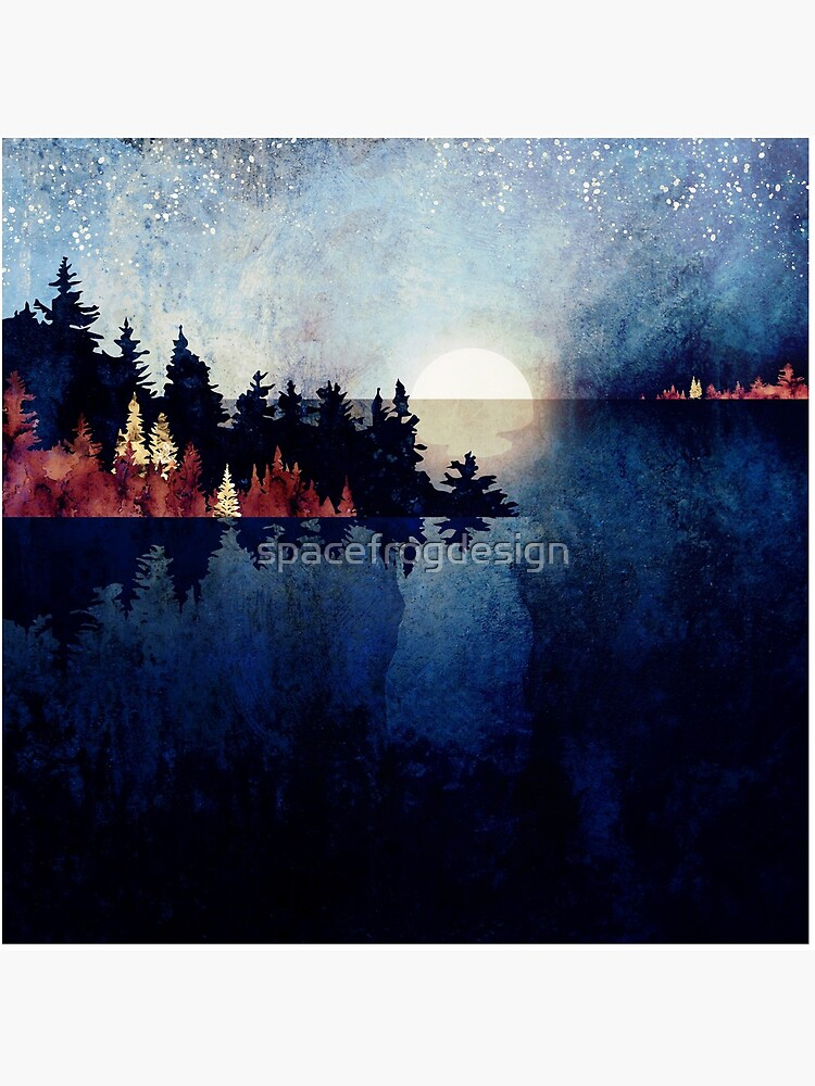 Autumn Moon Reflection by spacefrogdesign