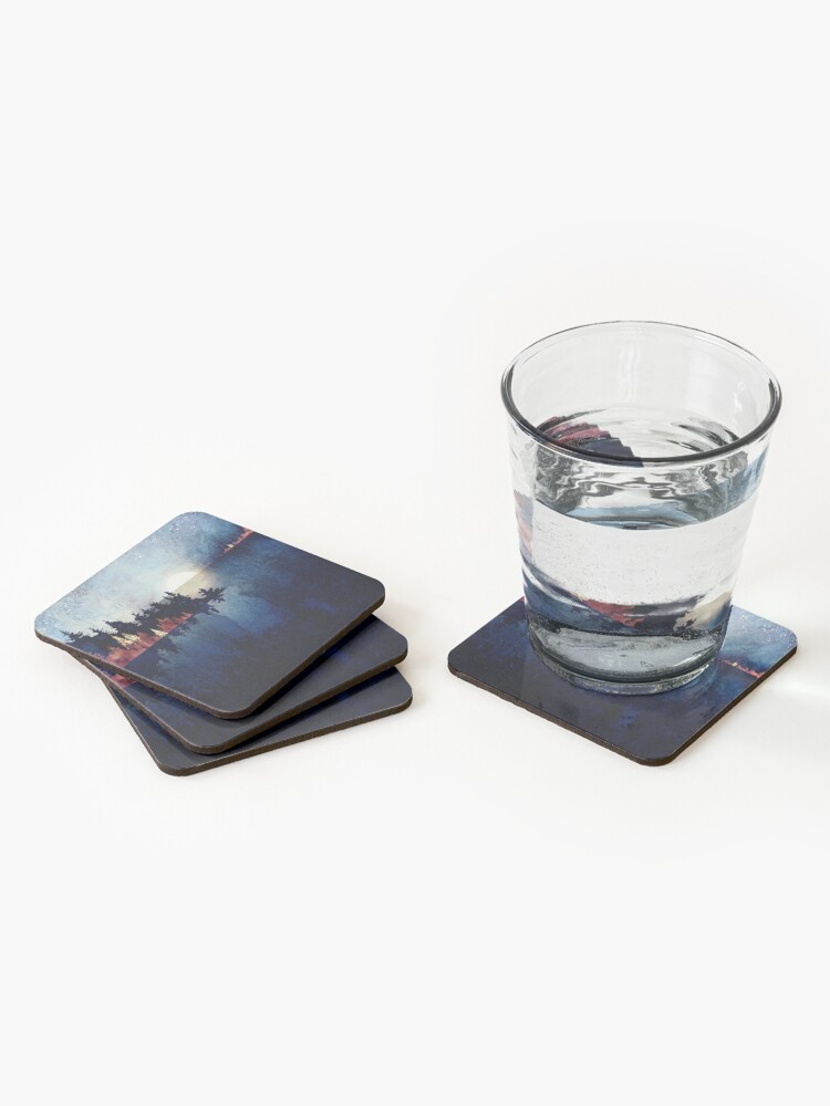 Alternate view of Autumn Moon Reflection Coasters (Set of 4)