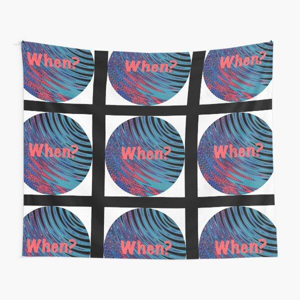 When? Swirling Globe Pattern Tapestry