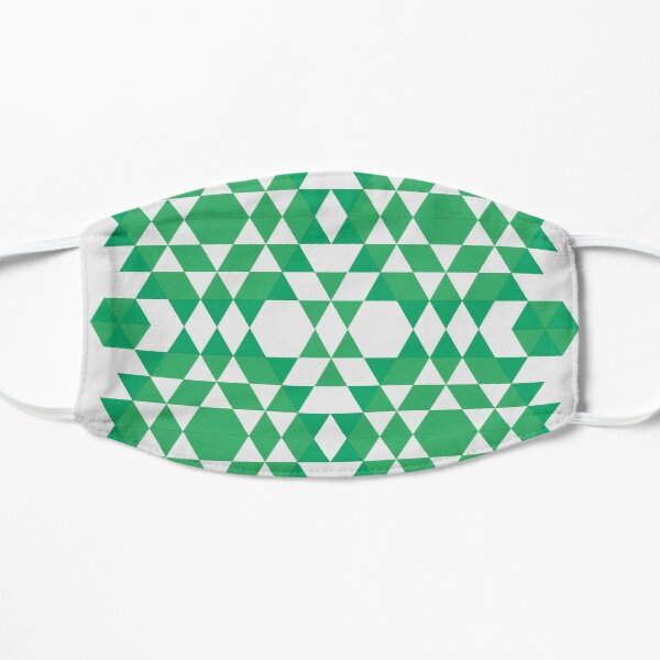 Green jungle Flat Mask