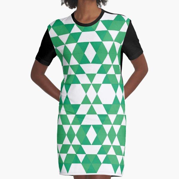 Green jungle Graphic T-Shirt Dress