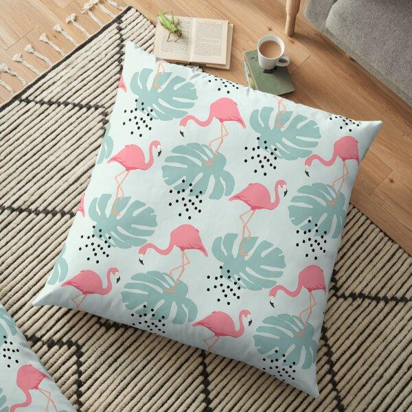 Tropical seamless flamingo pattern Floor Pillow