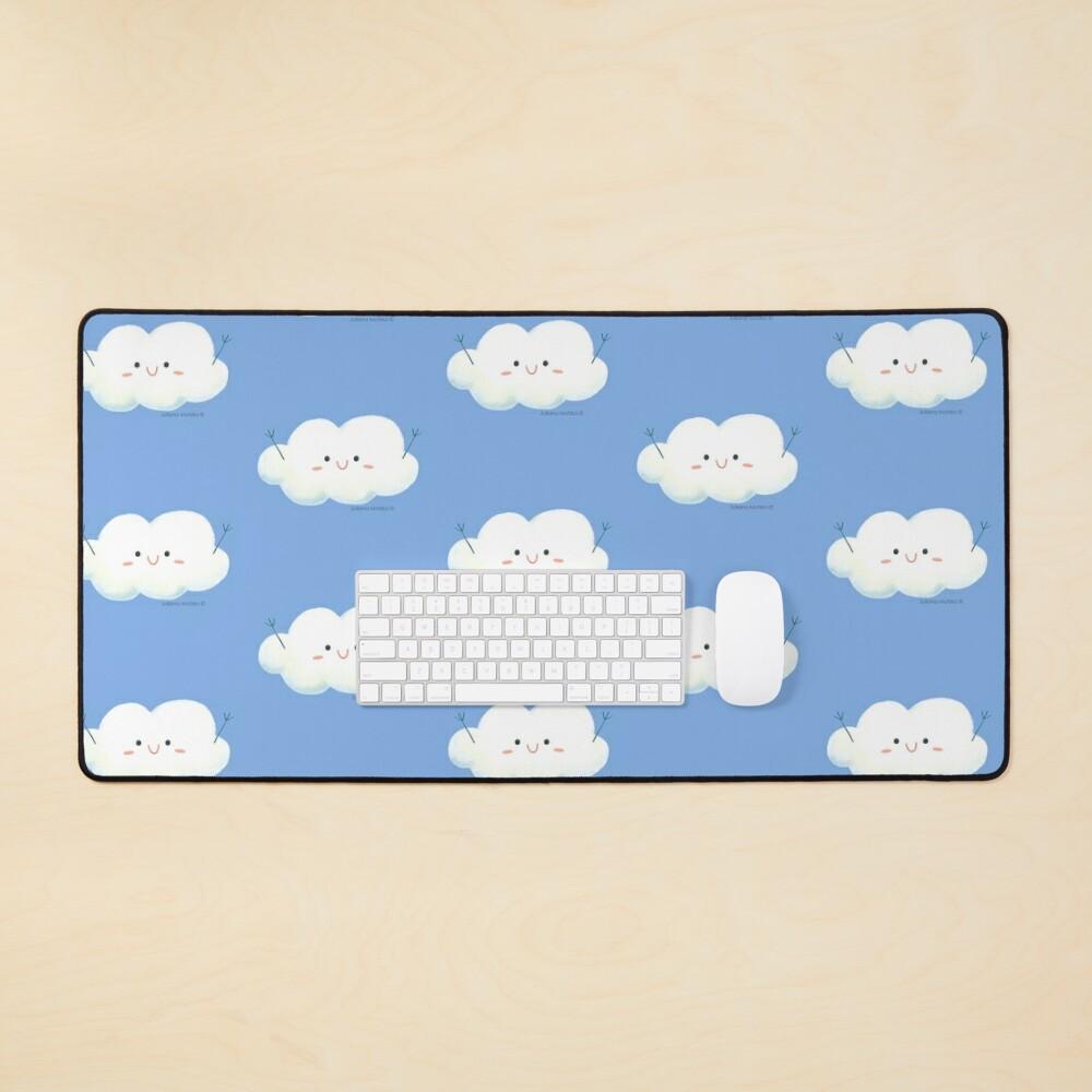 Happy Hug Cloud Mouse Pad