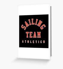 Sailing Team Athletics Greeting Card