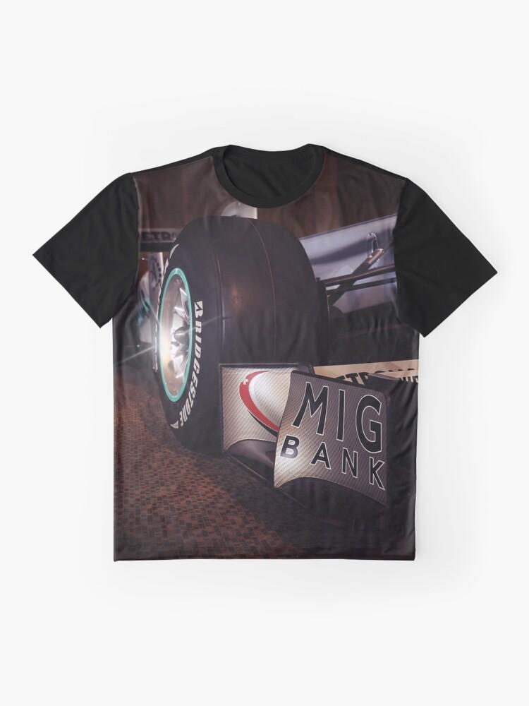 Alternate view of Mercedes AMG Petronas, F1, schumacher Graphic T-Shirt