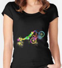 Festive bike Women's Fitted Scoop T-Shirt