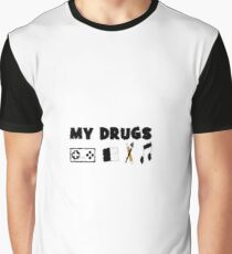 My Drugs Graphic T-Shirt
