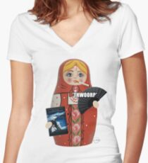 Katya Zamolodchikova Russian Doll Women's Fitted V-Neck T-Shirt