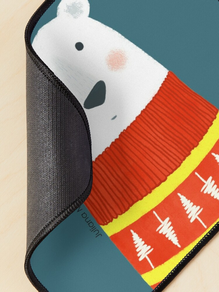 Alternate view of Polar Bear with Sweater Mouse Pad